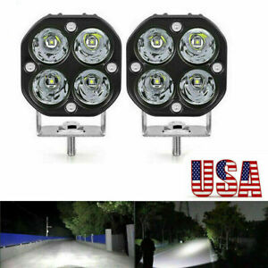2x 3inch 40w Led Work Light Bar Spot Pods Fog Driving Offroad 4wd Atv Truck Suv