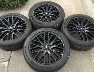 New 2021 19 Oem Ford Mustang Gt Performance Pack Factory Black Wheels Tires 5 0