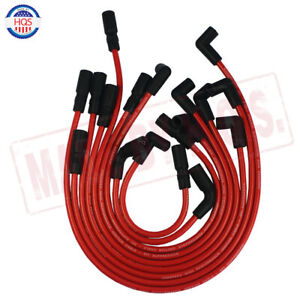 8mm Red Spark Plug Wires For Gmc Jimmy Sonoma Safari 1995 2001 Vortec V6 4 3l