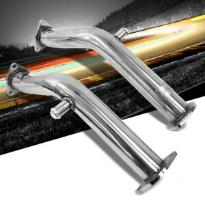 Manzo Stainless Steel Exhaust Downpipe Test Pipe For 03 06 350z g35 Vq35de Rwd