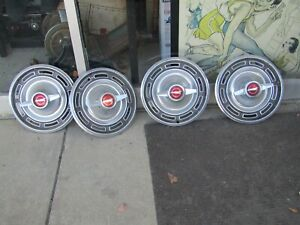 Ford Galaxie Fairlane Falcon Hubcaps Wheel Covers Center Caps Vintage Spinners