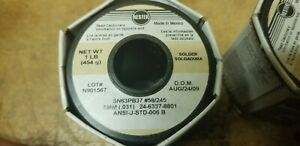 Kester Solder 58 245 Sn63pb37 8mm 031 Full 1 Lb Roll new