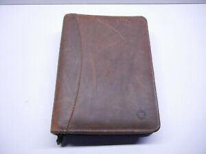 Franklin Covey Riverwood Leather Ring Binder Planner Mint Condition