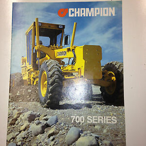 Champion 700 Series Road Grader Sales Brochure Specifications