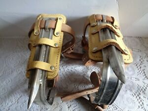 Pair Klein Tree pole Climbing Spurs grafs Padded 10 5 Inches 8210 R 8210 L