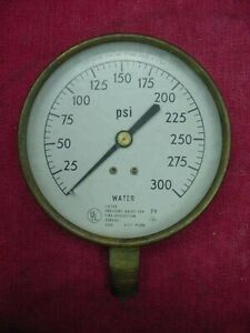 Vintage Brass Water Pressure Us Gauge Usa Valve Dial No 37590 Steampunk