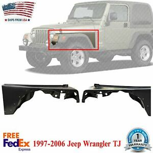 Set Of 2 Front Fender Primed Steel Left Right Side For 97 06 Jeep Wrangler Tj