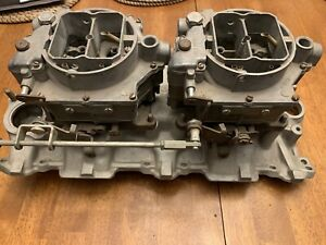 2x4 57 61 Chevy Corvette Intake And Carbs Dual Quads Carter Sbc 327 283 3739653
