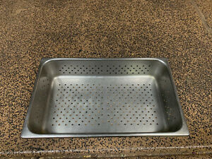 Full Size Stainless Steel 4 Deep Perforated Steam Prep Table Hotel Pan Buffet