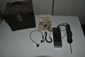 Vintage Red Diamond Ultrasonic Leak Detector Case Manual Included As Is