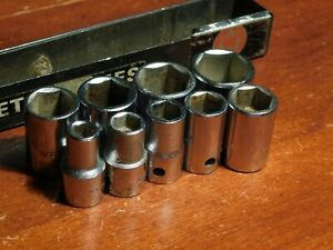 Wright 3 8 Drive Metric Socket Set No Owner Id Made In Usa 7 19mm 17 15 14 9