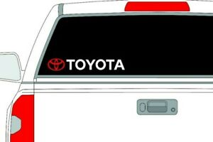 Sticker Toyota Tundra Vinyl Window Windshield Decal Tacoma Bed Lettering