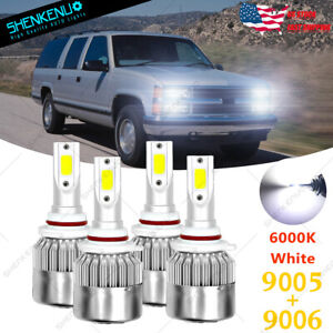 For 94 98 Chevy C K Pickup Silverado Suburban Tahoe 9005 9006 Led Headlight C6
