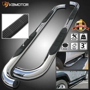 Fits 2004 2008 Ford F150 Extend Super Cab Chrome 3 Side Step Bars Running Board