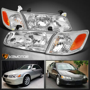 For 2000 2001 Toyota Camry Clear Headlights W Corner Signal Lamps Left right