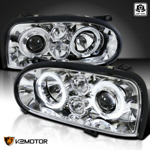 For 1993 1998 Vw Golf Mk3 Led Strip Projector Headlights Fog Lamps Replacement