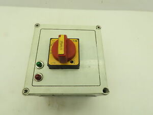 Vynckier Manual Motor Starter Protector Rotary Disconnect Switch Enclosure 7x7x6