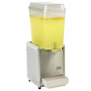 Crathco D15 4 3658 The Bubbler White Single 5 Gal Beverage Dispenser