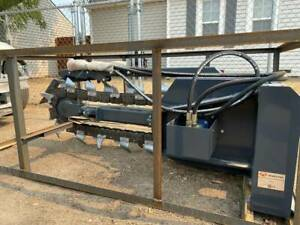 Trencher 48 Boom W 6 Combo Chain Skid Steer Loader Attachment Bobcat