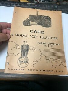 Old Vintage Case Model Cc Tractor Parts Catalog No D170 Original 3 47 Rw