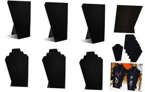 Black Velvet Necklace Jewelry Display Organizer Stand 6pcs pack 12 5inches