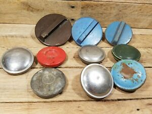 Vintage Lot Of 10 Various Gas Radiator Caps Stant Non Vented All Used Parts