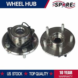 Both Front Wheel Bearings And Hub For 2006 2008 Dodge Ram 1500 W Abs 2wd 4wd