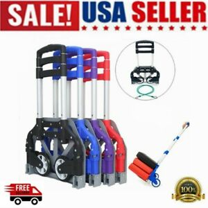 Folding Cart Dolly Push Truck Hand Collapsible Trolley Luggage Home Warehouse