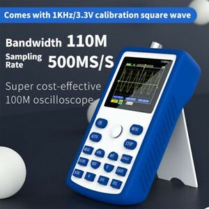 Fnirsi 1c15 Portable 2 4 Digital Oscilloscope 500ms s 110mhz Waveform Storage