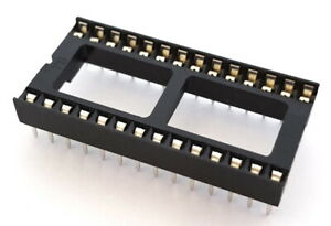 28 Pin Dip Wide Ic Sockets Assman Wsw Components A28 lc tt 25 Pieces