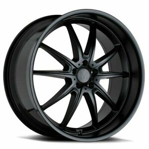 20 Mandrus Argent 20x10 Matte Black 5x112 For Mercedes 5 Lug Wheel 25mm Rim