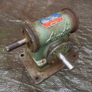 Vintage Abart Gear Reduction Mechanism 100 1 Speed Reducer Bandsaw Drill Press