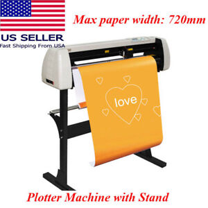 Us Ce 720mm Paper Feed Vinyl Cutter Plotter Sign Cutting 28 Inch Plotter Machine