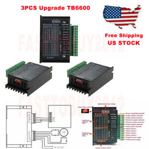 3pcs Cnc Single Axis Tb6600 Stepper Motor Driver Controller 4a Microstep 9 42vdc