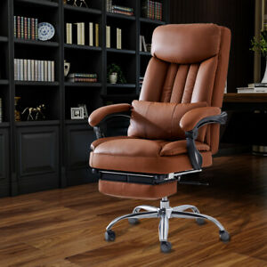 High Back Recline 360 Boss Office Chair Pu Leather Black brown Office Executive