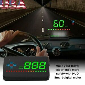 For Car Digital Gps Speedometer Head Up Display Overspeed Mph Km H Warning Alarm