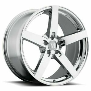 20 Mandrus Arrow 20x10 Chrome 5x112 For Mercedes 5 Lug Wheel 25mm Rim