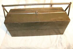 Ww2 Duplex Tool Box Sherman New York Metal Jeep Cantilever Tool Chest Army Box