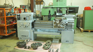 16 Swing Lansing Engine Lathe 16 X 40 Must See Nice Loaded Made In Italy