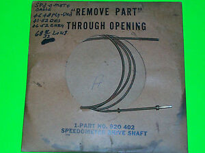 1946 1952 Plymouth Dodge Chrysler Desoto Nos Speedometer Cable Mopar 920402