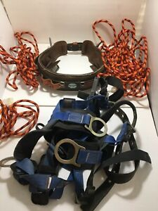 Buckingham Ring Lineman Pole Climbing Body Belt Size 32 Usa Falltech Harness