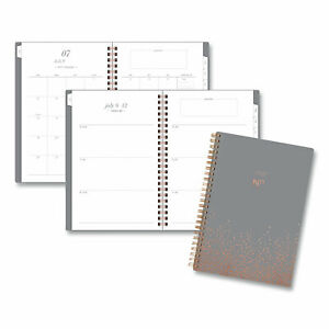 Cambridge Workstyle Gold Dot Planner 8 5 X 5 5 Gray 2020 2021