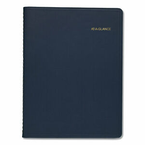 At a glance Monthly Planner 11 X 9 Navy 2021 2022