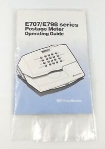 Pitney Bowes E707 E798 Postage Meter Operating Guide Booklet