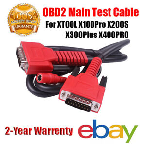 Car Obd2 Main Test Cable Data Wired For Xtool X100pro X200s X300plus X400pro