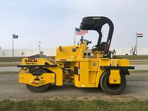 2013 Sakai Wp750 2 Pneumatic Roller only 2238 Hours One Owner Nice Machine