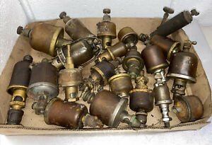 Lot Of Misc Gits Oilers Drop Feed Gravity Parts Hit Miss Gas Engine Antique
