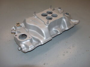 Vintage Weiand Dual Plane Sbc Chevy Alum Intake Manifold Say Why And Wcvsq