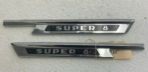 Nos 1950 Hudson Super 8 Fender Molding Moulding Trim Emblem 222785 Left Right