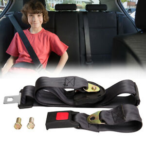 Universal 3 Point Seatbelt Straps Retractable Auto Car Seat Belt Laps Shoulder